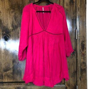 Free People Pink Short Dress Size Medium